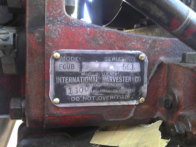 farmall cub engine serial numbers
