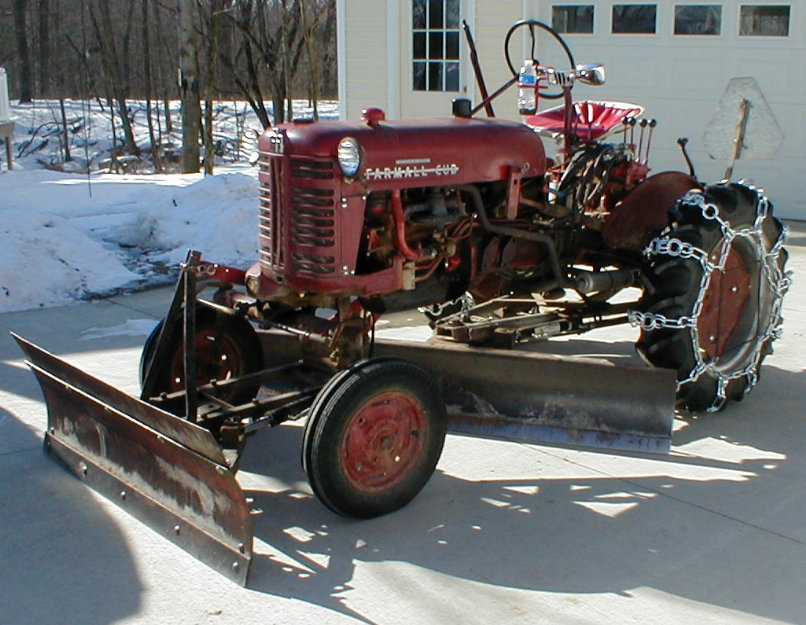 Cub with two snow blades attached(pics) - Farmall