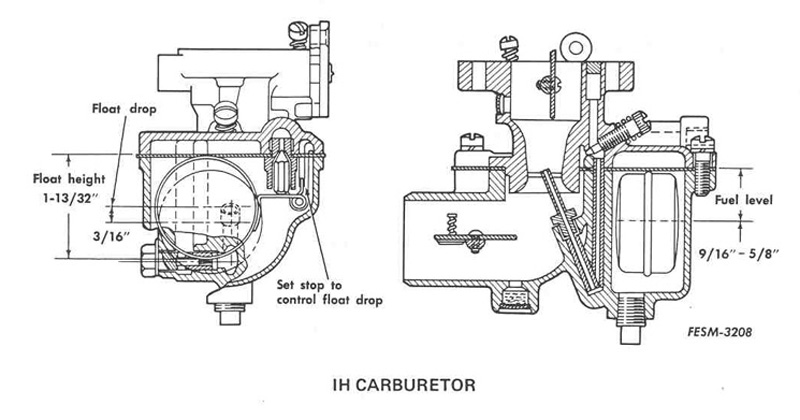 farmall h carburetor adjustment