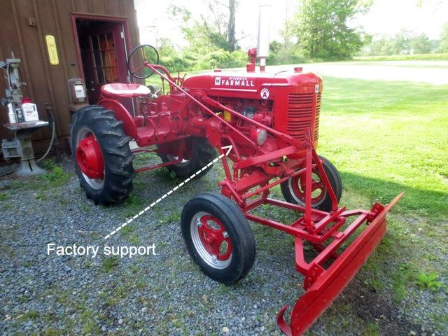 Farmall 130 Tractor : Bolster support bracket for farmall
