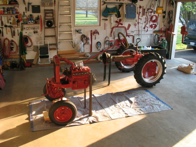 Ih Splitting Stands : How to support the engine for front splitting farmall cub