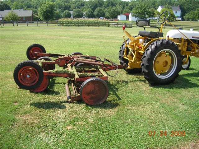 Gang Mower on All Old Farmall Tractors