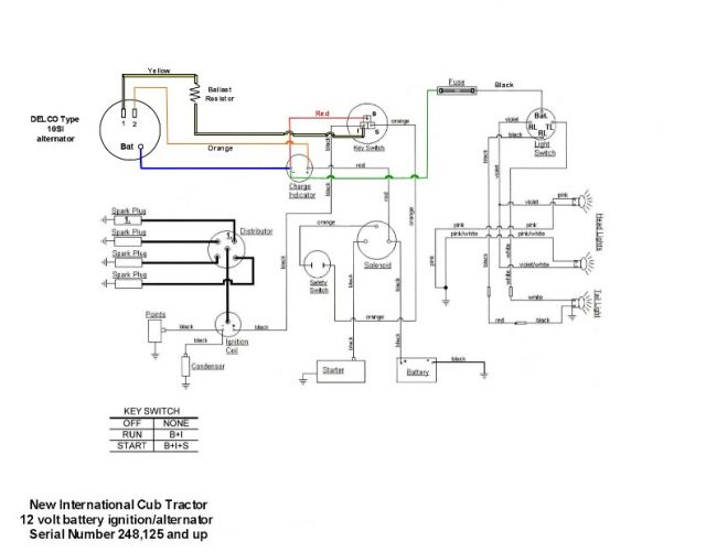 normal_Alternator_Cub_wiring_1_small farmall cub wiring diagram & mercedes benz alarm wiring Ford Alternator Wiring Diagram at mifinder.co