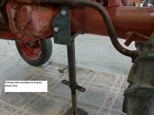 Tractor Splitting Jacks : Cub support stand another variation farmall
